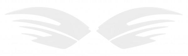 BIKE-label 810014 Seitentank Pad Motorrad Lackschutz Aufkleber Weiß White