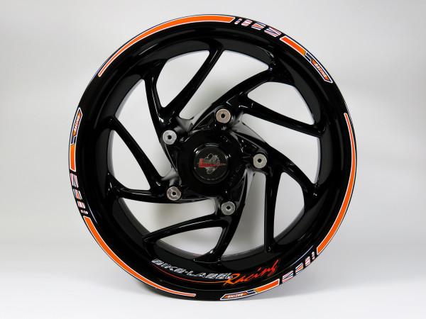 BIKE-label 710029 Felgenrand Aufkleber Orange Racing