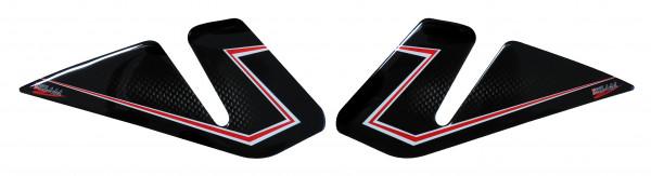 BIKE-label 800340 Seitentank Pad Carbon Rot kompatibel für Honda CBR 1000 RR Fireblade