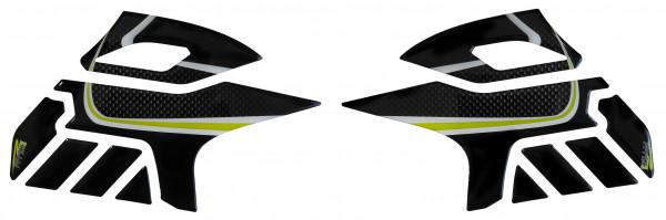 BIKE-label 800203 Seitentank Pad Carbon Gelb kompatibel für Suzuki V-Strom 650