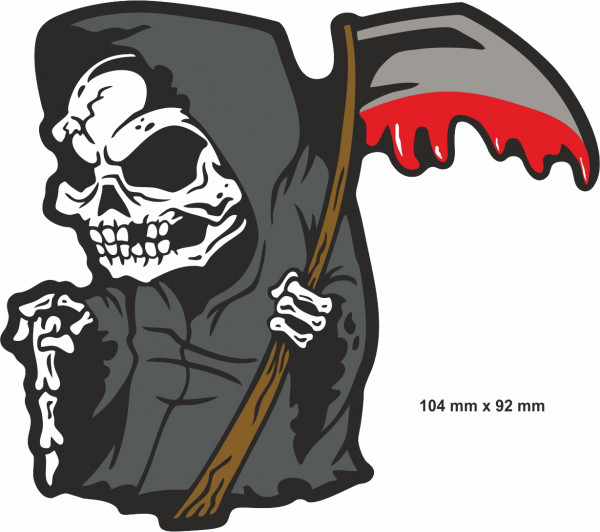BIKE-label 400073 Aufkleber Sticker Reaper Sensenmann Tot