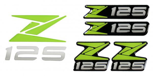 3D-Logo-Aufkleber Emblem Grün Badge Green Sticker kompatibel für Kawasaki Z125