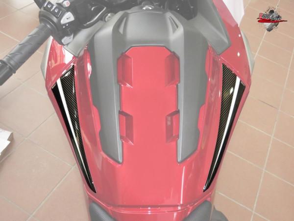 BIKE-label 550060 Deko Schutz-Aufkleber seitlicher Tank Carbon Optik kompatibel für Honda NC 750X