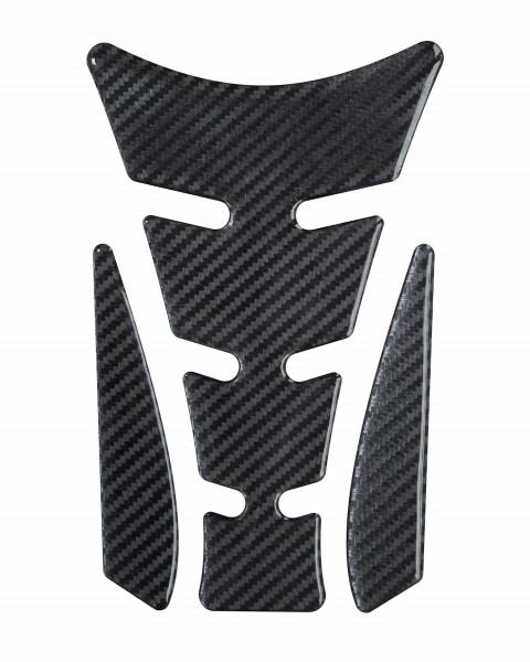 BIKE-label 501470 Tankpad Motorrad Aufkleber Carbon Schwarz Optik