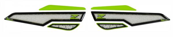 Seitentank Pad Grün Weiß Motorrad Schutz kompatibel für Kawasaki Z900
