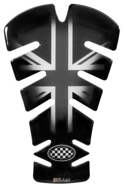 Tankpad Union Jack Silver / England Flagge Form 10