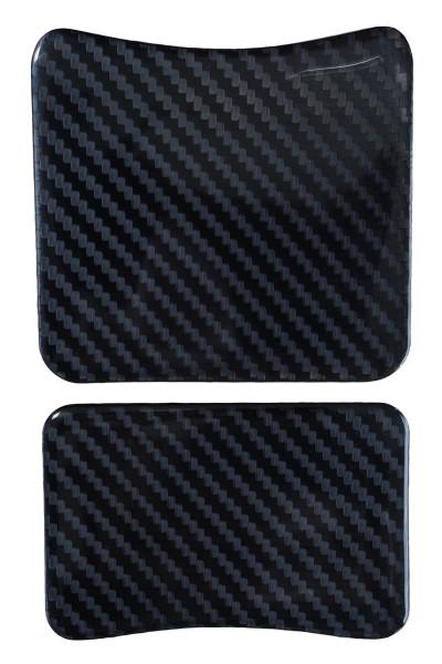 BIKE-label 501963 mini Tankpad Motorrad Aufkleber Carbon Schwarz Optik