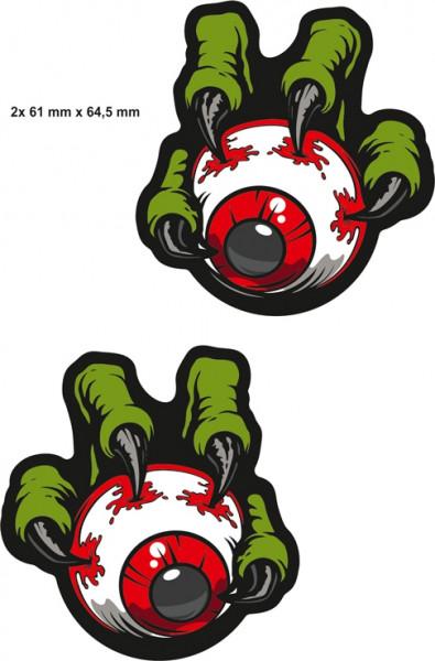 BIKE-label 400071 Aufkleber Sticker Monster Auge Hand mit Krallen Grün