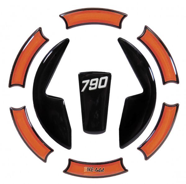 Tankdeckel-Pad Lackschutz Aufkleber passend für KTM 790 Duke - Styling Black/Orange