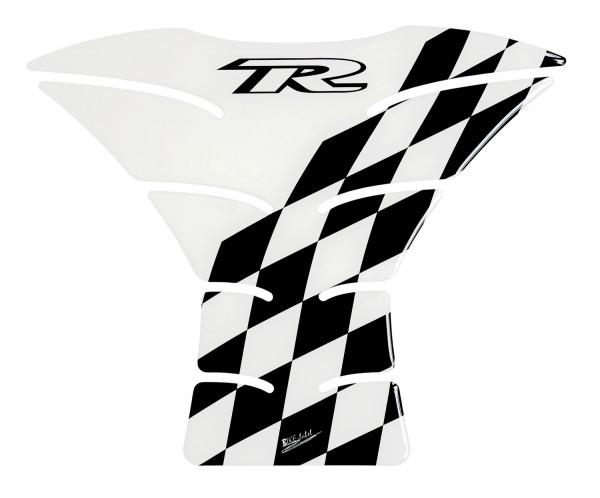 Tankpad Racing Flag - Transparent / Black - Form 27