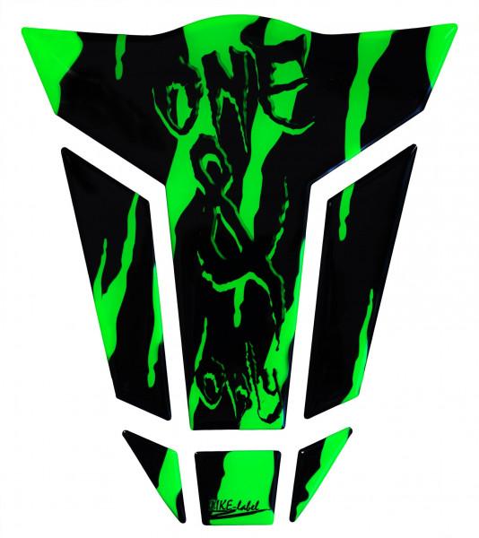 BIKE-label 501788 Tankpad Motorrad Monster Aufkleber neon Grün