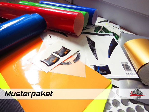 BIKE-label Material Muster - Mix Paket