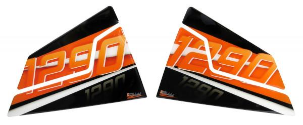 BIKE-label 800460 Seitentank Pad Orange kompatibel für KTM 1290 Super Duke R - bis BJ 2019
