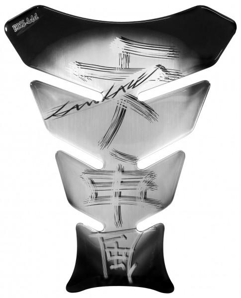 Tankpad Kamikaze Black & brushed Aluminium Form 8