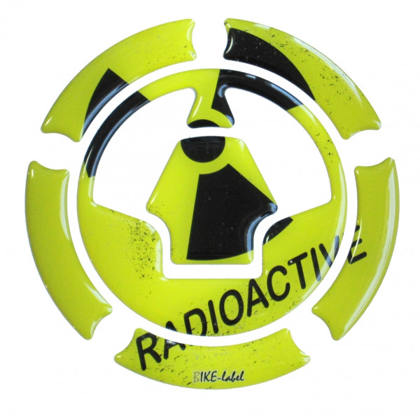 BIKE-label 640002 Tankdeckel Pad Radioactive Gelb universell kompatibel für Kawasaki