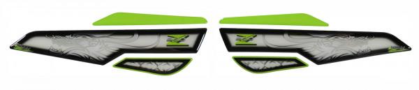 Seitentank Pad Grün Weiß Drache Motorrad Schutz kompatibel für Kawasaki Z900