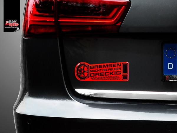 BIKE-label 910020 Aufkleber neon rot Bremsen macht die Felgen dreckig
