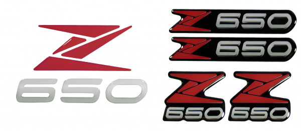 3D-Logo-Aufkleber Emblem Rot Badge Red Sticker kompatibel für Kawasaki Z650