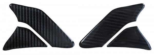 BIKE-label 800142 Seitentank Pad Motorrad Aufkleber Carbon Schwarz Optik