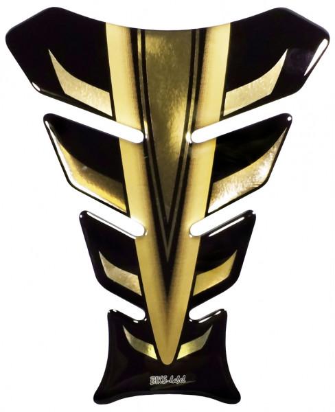 Lackschutz Aufkleber für Motorrad Tanks - Gold Metallic Strike - Form 8