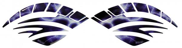 BIKE-label 810019 Seitentank Pad Motorrad Lackschutz Aufkleber Blitz Purple Blue