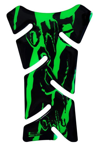 BIKE-label 501796 mini Tankpad Motorrad Monster Aufkleber neon Grün