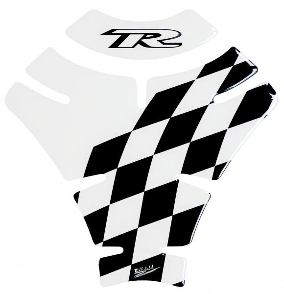 Tankpad Racing Flag - Transparent / Black - Form 9