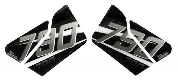 BIKE-label 800481 Seitentank Pad Silber Schwarz kompatibel für KTM 790 DUKE