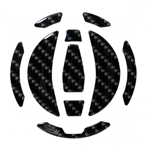 Tankdeckel Pad Carbon-Optik Schwarz Druck universell kompatibel für Kawasaki