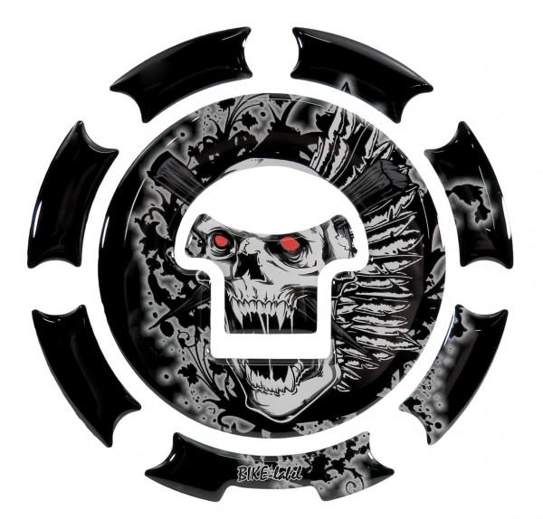 BIKE-label 600006 Tankdeckel Pad Skull universell kompatibel für Honda
