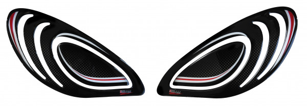 BIKE-label 800243 Seitentank Pad Carbon Rot kompatibel für Yamaha XSR 900