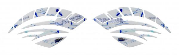 BIKE-label 810005 Seitentank Pad Motorrad Lackschutz Aufkleber Racing blau