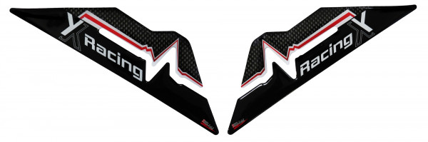 BIKE-label 800183 Seitentank Pad Carbon Stripes Red kompatibel für Honda NC 750X