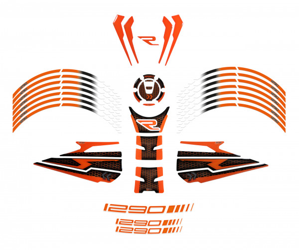 BIKE-label 850009 Motorrad Aufkleber Set kompatibel für KTM 1290 Super Duke R - ab BJ 2020