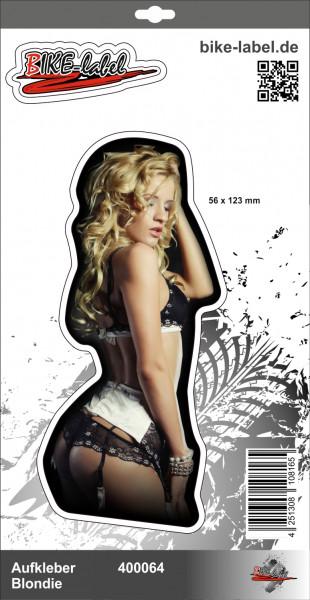 BIKE-label 400064 Aufkleber Sticker sexy Blondie in Dessous