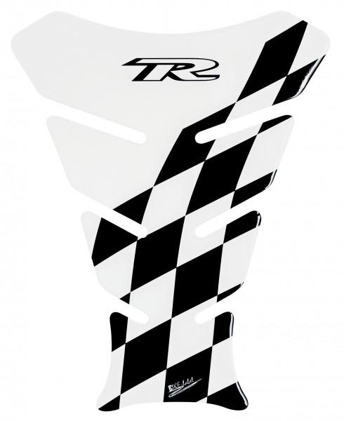 Tankpad Racing Flag - Transparent / Black - Form 8