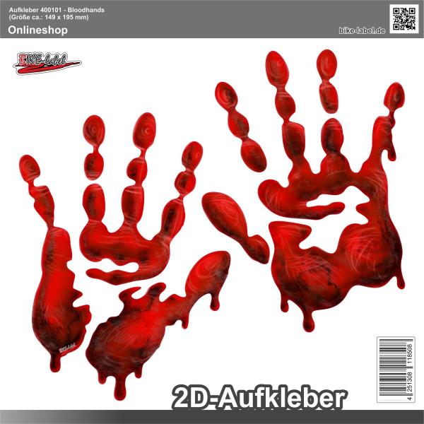 Aufkleber 2D Sticker - Bloodhands 2 Stck. je 149 x 195 mm