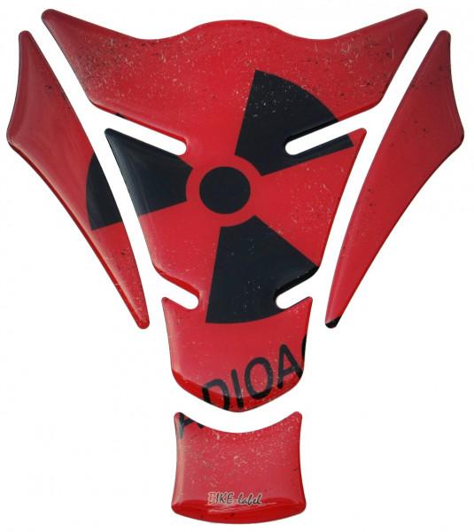 Tankpad radioaktiv red Form 15
