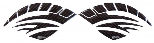 BIKE-label 810001 Seitentank Pad Motorrad Aufkleber Carbon Braun Optik