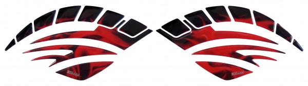 BIKE-label 810010 Seitentank Pad Motorrad Aufkleber Flame Red Flammen