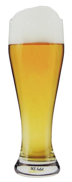 BIKE-label 910055 Aufkleber 3D Bier Weizenglas Fun Sticker