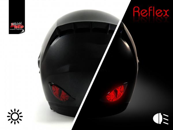 BIKE-label 910065 Deko Helm Aufkleber Böse Augen rückstrahlend reflex rot
