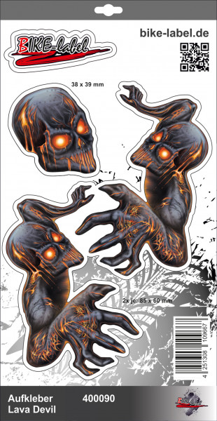 BIKE-label 400090 Aufkleber Sticker Teufel Lava Monster