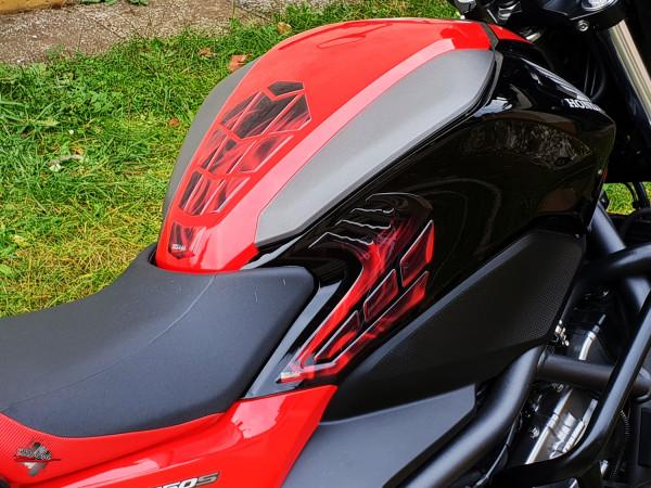 BIKE-label 5025201 Set Tankpad Seitentank Pad Rot kompatibel für Honda NC 750 S
