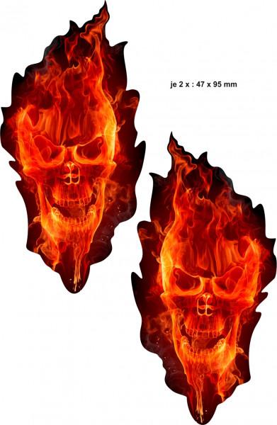 BIKE-label 400091 Aufkleber Sticker Geist in Rot Totenkopf Schädel