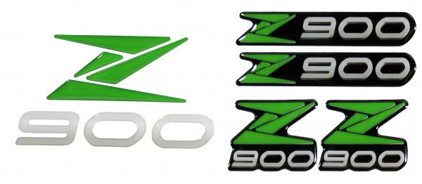3D-Logo-Aufkleber Emblem Grün Badge Green Sticker kompatibel für Kawasaki Z900