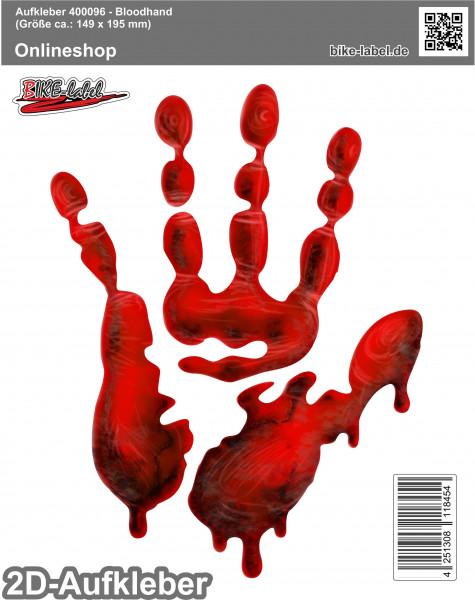 Aufkleber 2D Sticker - Bloodhand 149 x 195 mm