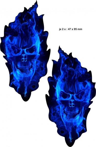 BIKE-label 400092 Aufkleber Sticker Geist in Blau Totenkopf Schädel
