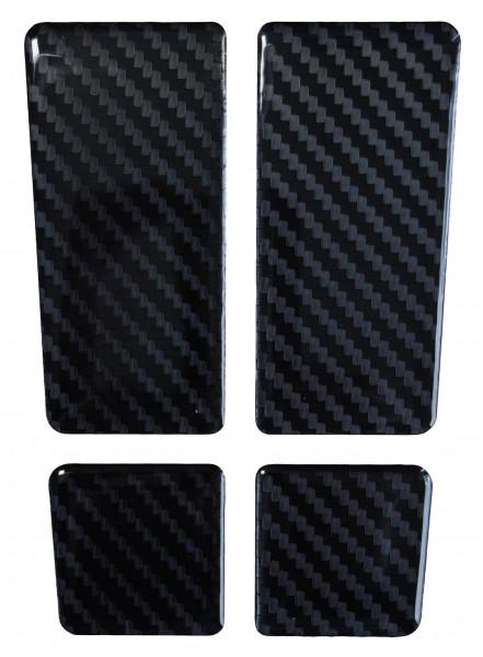 BIKE-label 501960 mini Tankpad Motorrad Aufkleber Carbon Schwarz Optik
