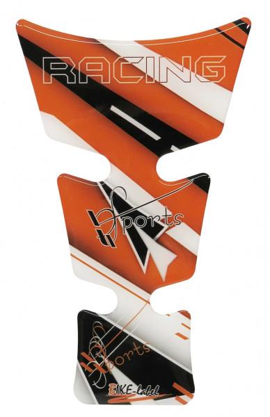 BIKE-label 501732 mini Tankpad Motorrad Aufkleber Racing analog KTM Orange
